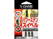 Sasame Power swivel v.2/0 4ks/bal 316kg